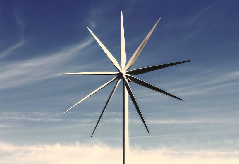 Le grand moulin à vent dans le ciel sur Frank Herrmann