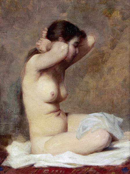 Nackte Frau, ALPHONE JULES DEBAENE von Atelier Liesjes