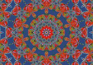Rosette in Blau (Mandala in Blau)