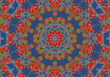 Rosette in Blue (Mandala in Blauw) van