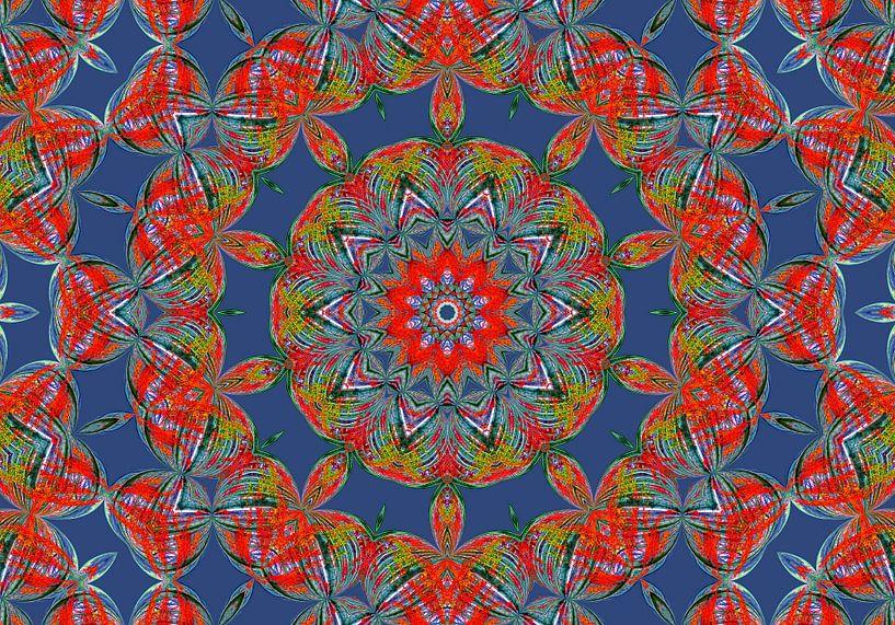 Rosette in Blau (Mandala in Blau) von Caroline Lichthart