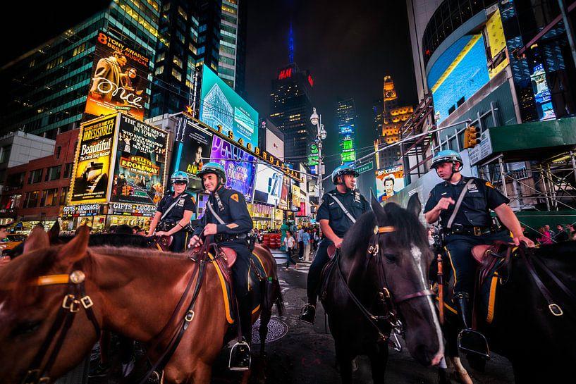 Toezicht op Times Square van Roy Poots