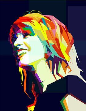 Hayley Williams Pop Art WPAP van Fariza Abdurrazaq