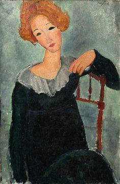 Frau mit roten Haaren, Amedeo Modigliani von
