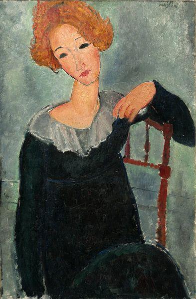vrouw met rood haar, Amedeo Modigliani van Liszt Collection