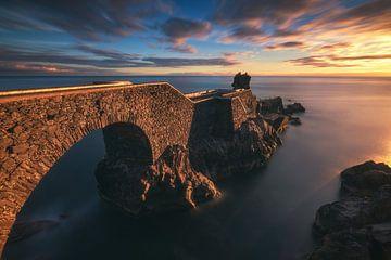 Madeira Ponta do Sol Steg im Abendrot von Jean Claude Castor