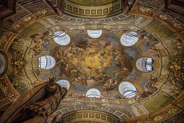 Fresco in de Nationale bibliotheek van Oostenrijk