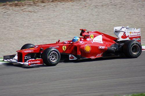 Fernando Alonso Monza 2012 van