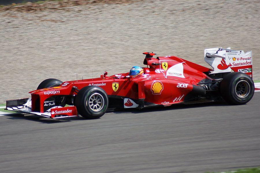 Fernando Alonso Monza 2012 van Jeroen van Deel