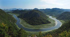 Lake Shkoder Montenegro Horseshoe bend