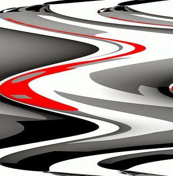 Waves Red van Nicky`s Prints