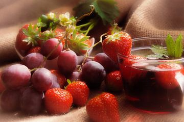 Gesunder Früchte Mix für die Wand von