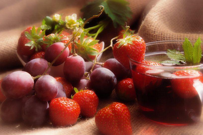 Gezond fruit mix voor de muur van Tanja Riedel