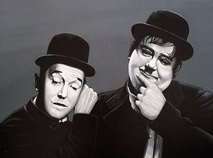 Laurel and Hardy Schilderij
