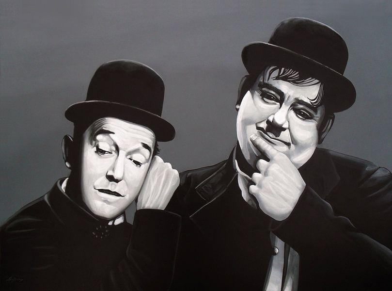 Laurel and Hardy Schilderij van Paul Meijering