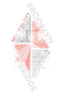 Coördinaten NEW YORK CITY Brooklyn Bridge | levend koraal van