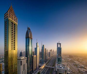 Gouden licht in Dubai van Rene Siebring