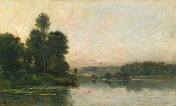 Die Hänge von Méry-sur-Oise, gegenüber von Auvers, Charles François Daubigny