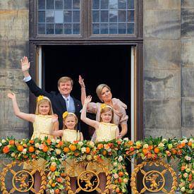 Koning Willem-Alexander, koningin Maxima en hun dochters prinses Catharina Amalia, prinses Ariane en van gaps photography