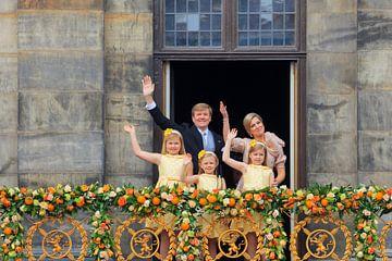 Le roi Willem-Alexander, la reine Maxima et leurs filles la princesse Catharina Amalia, la princesse sur gaps photography