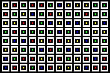 Nested | Center | 12x08 | N=02 | Random #05 | RGBY van Gerhard Haberern
