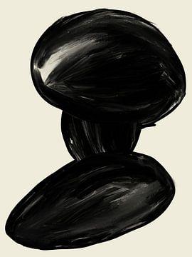 Minimalistischer abstrakter Kunstdruck von FemmDesign