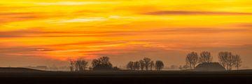Groningse skyline bij zonsondergang von Jurjen Veerman