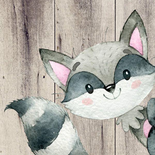 Waschbär Illustration von Uta Naumann