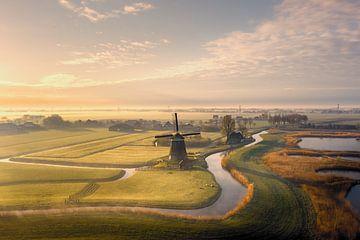 Molen in prachtig Noord Hollands landschap van Nick de Jonge - Skeyes