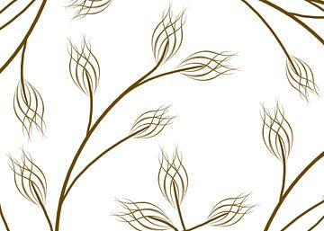 bruine takken met bloem van daphne houtman