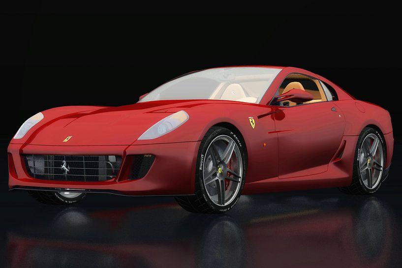 Ferrari 599 GTB Fiorano drie-kwart zicht van Jan Keteleer