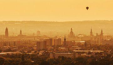 Coucher de soleil à Dresde sur Frank Herrmann