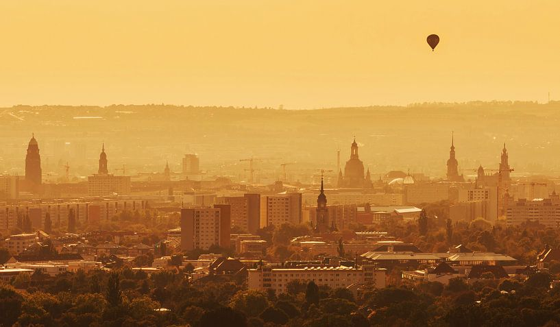 Dresden zonsondergang van Frank Herrmann