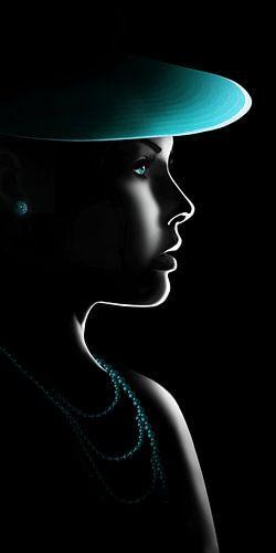 Frau im Licht von