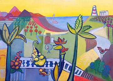 Landschap La Palma 1 van Lorette Kos