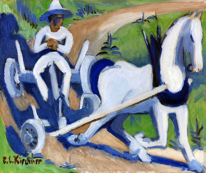 Bauernwagen mit Pferd, ERNST LUDWIG KIRCHNER, 1922-1923 von Atelier Liesjes