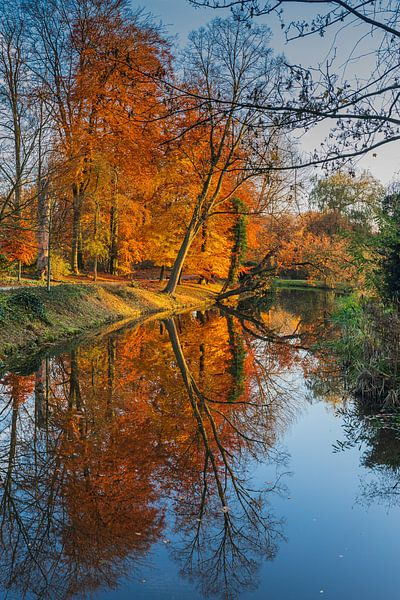 Herfst in Randenbroekerpark Amersfoort. van Karin Riethoven