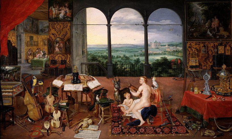 Die fünf Sinne: Hören, Jan Brueghels und Peter Paul Rubens von Meesterlijcke Meesters
