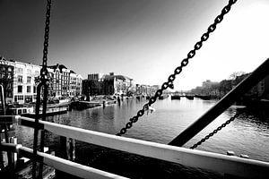 Brücke, Amsterdam (Schwarz-Weiß)
