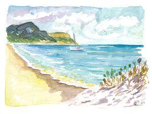 Anse de Grande Saline Saint Barthelemy Karibik Strand-Szene von Markus Bleichner