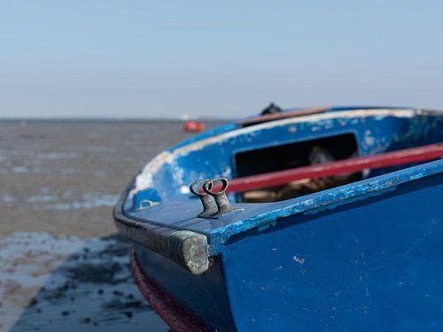 blauwe boot in Krabbedijke
