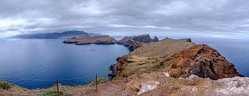 Pad over Ponta do Furado op het schiereiland Ponta de São Lourenço op Madeira van Sjoerd van der Wal