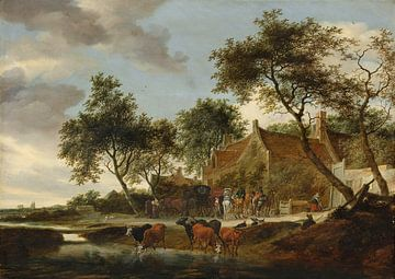 Rastplatz - Salomon van Ruysdael