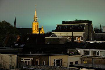 Stadsgezicht van Utrecht met de Catharijnekerk (3) sur Donker Utrecht