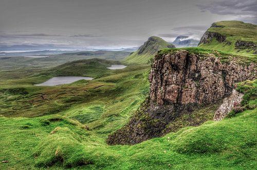 Landschap in de Quiraing, Schotland. van