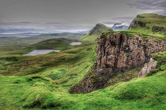 Landschap in de Quiraing, Schotland. van Edward Boer