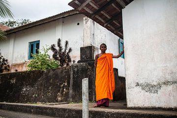 boeddhistische priester, Sri Lanka. van Rony Coevoet