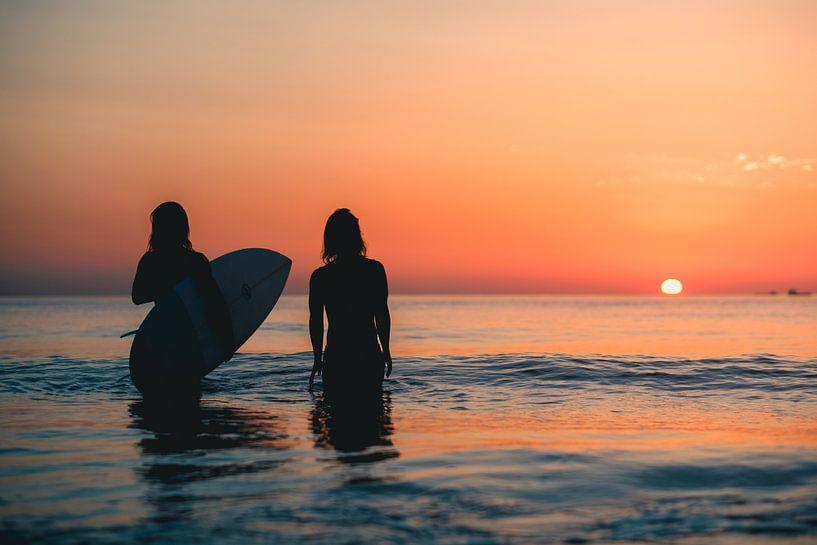 Surfen Domburg zonsondergang 2 sur Andy Troy