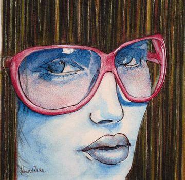 Pink glasses sur Helma van der Zwan
