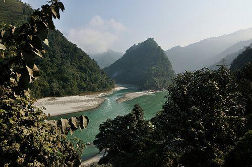 Merging Rivers in Nepal van